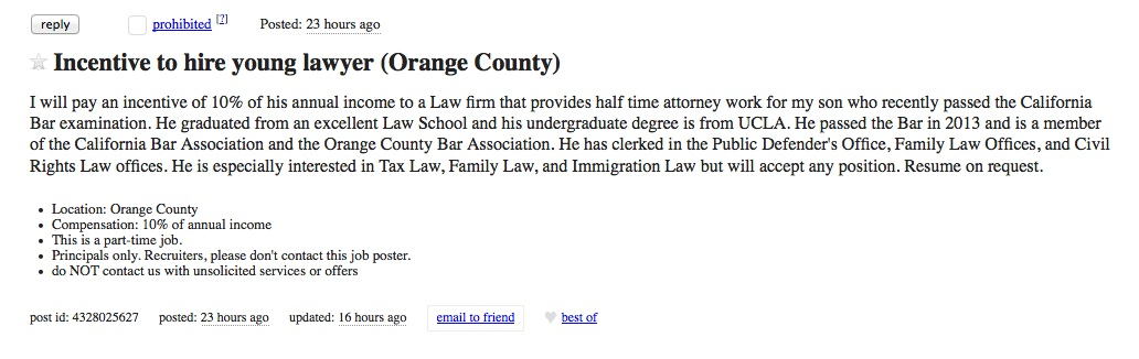 Craigslist lawyer